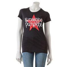 Smashing Pumpkins Red Sky Girls Juniors Black T Shirt New Official