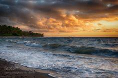 http://500px.com/photo/190164649 There is no place like the beach..... by BernieLamberz -There is no place like the beach... where the land meets the sea and the sea meats the sky  (Umair Siddiqui). Tags: skysunriseseawaterbeachtravelbluesunlightcloudsoceansummerbeautifulsandphilippines2016bernie