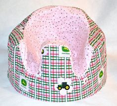 Pink John Deere Baby Seat Cover by SimplyCountryCrafts on Etsy, $25.00