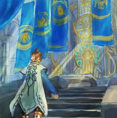 Sorey at Artorious Throne (Tales of Zestiria the X)
