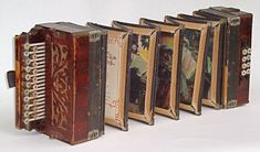 The Wandering Book Artists are well known for their accordion books, in which they alter an instrument in order and recreate it into a book about accordion players and music. PHOTO COURTESY PETER AND DONNA THOMAS