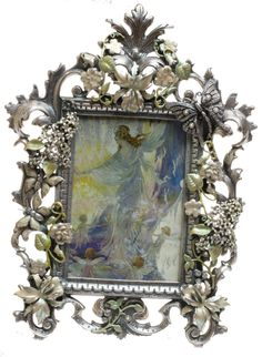 Kirks Folly LARGE FAIRY GARDEN PICTURE FRAME silvertone