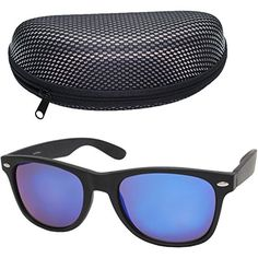 ab3445a3a7 LotFancy Wayfarer Sunglasses for Women Men with Free Lens