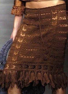 Esta  falda quedaría cantadora con hilaza.
