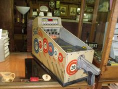 Skill Gun - Penny Arcade by ABT Company Chicago  Patent Sept. 1st, 1925   #thepointbarnanitques