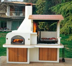 island kitchen ideas Outdoor BBQ kitchen island is a great addition to your outdoor living spaces, inviting to spend more time in the summer making delicious barbecue meals and enjoying outdoor dining with family and friends Outdoor Bbq Kitchen, Pizza Oven Outdoor, Backyard Kitchen, Summer Kitchen, Outdoor Kitchen Design, Outdoor Dining, Outdoor Kitchens, Outdoor Pergola, Backyard Bbq