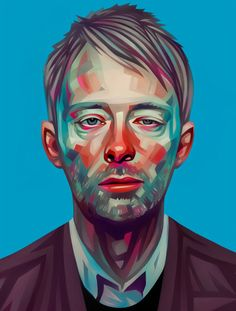 Thom Yorke illustration by Evgeny Parfenov
