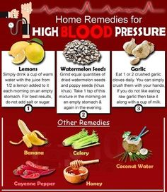 #Home #remedies for #High #Blood #Pressure (MUST SHARE  1. Lemons Lemons help keep blood vessels soft and pliable and by removing any rigidity, high blood pressure will be reduced. In addition, you can help lower your chance of heart failure by consuming lemon juice regularly, due to its vitamin C content. Vitamin C is an antioxidant that helps neutralize the harmful effects of free radicals. Simply d... See More