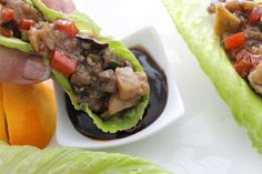 Chinese Chicken Lettuce Wraps  www.TheSaucyGourmet.net
