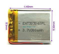 $25.99 (Buy here: https://alitems.com/g/1e8d114494ebda23ff8b16525dc3e8/?i=5&ulp=https%3A%2F%2Fwww.aliexpress.com%2Fitem%2FA-thin-polymer-batteries-303040-Lithium-Battery-300mAh-rechargeable-battery-power%2F32274604561.html ) A thin polymer batteries 303040 Lithium Battery 300mAh rechargeable battery power for just $25.99