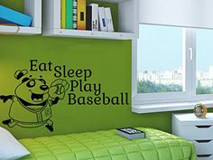 Wall Decals Quotes Vinyl Sticker Decal Quote Eat Sleep Pl