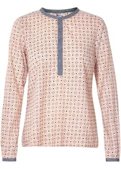 Cream Bluse pudder print 10600737 Lilac Blouse peony – Acorns