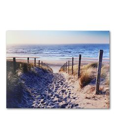 Look at this Beach Path Canvas on #zulily today!