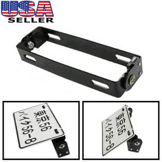 Angle Adjustable License Plate Mount Bracket for Motorcycle Bike ATV Black Motorcycle License, Motorcycle Bike, Motorbike Parts, Honda Ruckus, Atv, Motors, Plates, Accessories, Ebay