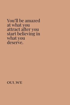 """You'll be amazed at what you attract after you start believing in what you deserve. Motivacional Quotes, Mood Quotes, Positive Quotes, Best Quotes, Life Quotes, Crush Quotes, Relationship Quotes, Self Love Quotes, Quotes To Live By"