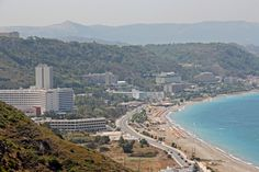 A view of one of the island's beaches, Rhodes.