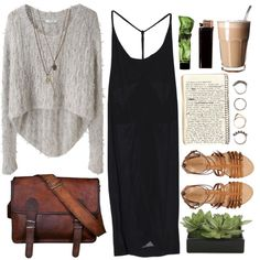 A chic, comfy outfit for a fall day!