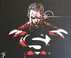 Superman painting I did for my buddy.