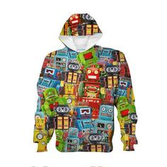 Toy Robots Youth Hoodie