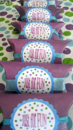 Crissy's Craft: TP Roll Party Favors Tutorial - YES these are made from toilet paper tubes.  BRILLIANT