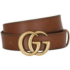Gucci Women 40mm Gg Buckle Leather Belt (605 AUD) ❤ liked on Polyvore  featuring 1b6ee8622