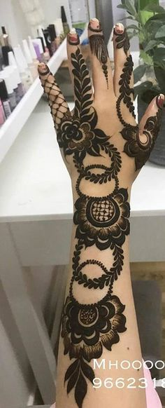 Modern Henna Designs, Khafif Mehndi Design, Floral Henna Designs, Latest Bridal Mehndi Designs, Mehndi Designs 2018, Mehndi Designs For Girls, Mehndi Designs For Beginners, Mehndi Design Pictures, Mehndi Designs Book