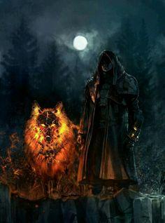 Feuer magier wolf