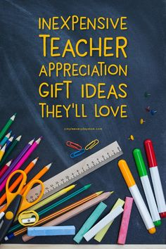Inexpensive Teacher Gift Ideas For Teacher Appreciation Or End Of The Year | Give your child's teacher a little thank you gift to show them just how much you appreciate their hard work and dedication. There are ideas to buy or DIY and something for everyone including gift tags, fun products, awesome gift card holders and more!   #teacher #teaching #teacherappreciation #teacherappreciationideas #elementary #school #giftideas #giftsforher #giftsforteacher