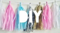 diy tassel de papel crepom - YouTube