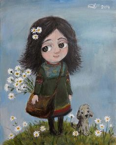 Find yourself. Winter Illustration, Cute Illustration, Artists For Kids, Art For Kids, Old Paintings, Illustrations, Whimsical Art, Character Drawing, Naive
