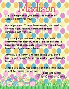 print at home letter from the easter bunny by carouselcandyshoppe 295