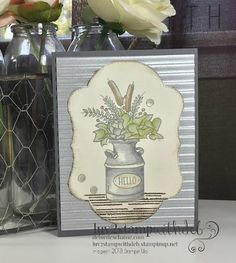 When you can't hug in person, send a Handmade Hug you created, with Stamps, Paper & Ink! Handmade Greetings, Greeting Cards Handmade, Fall Cards, Holiday Cards, Stampin Up Catalog, Card Card, Thanksgiving Cards, Galvanized Metal, Card Patterns