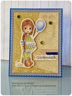 "Glückwunschkarte | congrats card - Saturated Canary ""Ava"", Faber Castell Polychromos, Mama Elephant dies"