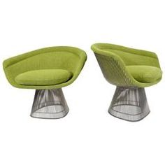 Pair of Warren Platner Lounge Chairs in Holly Hunt Great Outdoors   Now we're on our way on the colour spectrum ......all uphill ...