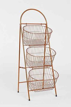 Ladder Storage Basket - Urban Outfitters- great for sale items- different price each tier