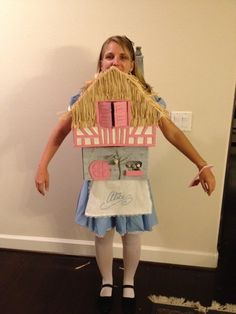 Alice in the White Rabbitu0027s House Costume From Cardboard Boxes  sc 1 st  Pinterest & 18 Disney Costumes That Kiddos Will Love | Pinterest | Wonderland ...