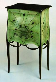 French Art deco: Dream bedside table by Paul IRIBE. Ca.1912.