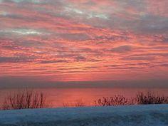 Winter Sunrise over Lake Michigan
