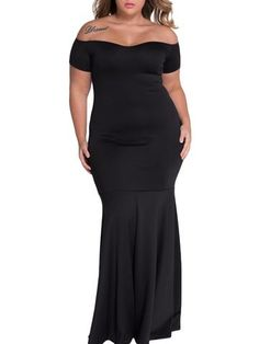Margarita Off Shoulder Plus Size Mermaid Dress