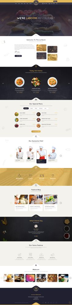 La Boom - Food & Restaurant PSD Template #burger #cafe #chief • Download ➝ https://themeforest.net/item/la-boom-food-restaurant-psd-template/19650715?ref=pxcr