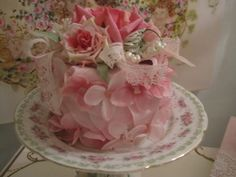Ring Around The Rosey Faux Flower Cake