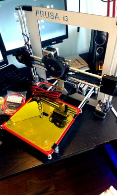 Assembled parts of RepRap Prusa I3 (making of)