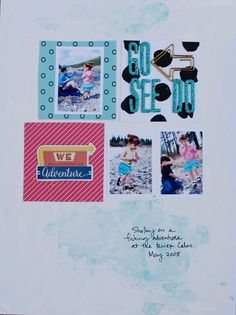 Go See Do, by Denise Morrison @cocoadaisykits May scrapbooking kit.