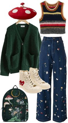 Indie Outfits, Teen Fashion Outfits, Retro Outfits, Grunge Outfits, Vintage Outfits, Swaggy Outfits, Cute Casual Outfits, Aesthetic Fashion, Aesthetic Clothes