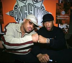 This photo was taken on March 1998 at Gang Starr's in store at Sam Goody on Ave. Gang Starr, Old School, Hip Hop, Baseball Hats, Classic, Sports, Baseball Caps, Hs Sports, Hiphop