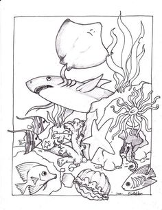 Ocean fish coloring page | Coloring pages and Printables | Pinterest ...