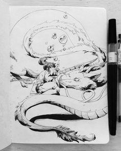 Inktober #29 with the theme #united combined with one of my favorite ghibli movies #spiritedaway  I always can watch this movie! Haku and Chihiro are so lovely. #inktober #inktober2017 #inktobertheme #ink #blackandwhite #blackandwhiteonly #inktobersketch #anime #ghibli #studioghibli #haku #dragon #rivergod #sleeping #nap #chihiro #spiritedaway #chihirosreiseinszauberland #girl #cudling #sweet #artistoninstgram #dyru #drawdaily