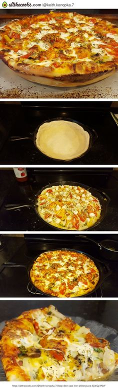 Deep Dish Cast Iron Skillet Pizza