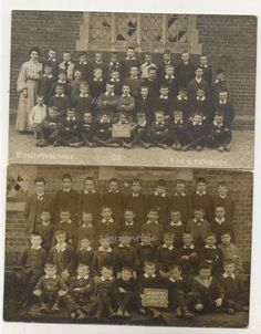 Newbury Berkshire rp postcard National School class of Children Newbury Berkshire, National School, Royal Mail, Vintage Postcards, United Kingdom, Photo Wall, British, Children, Frame