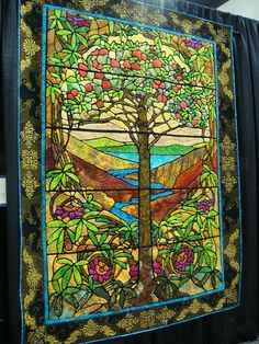 Tree of Life. Stained glass technique.